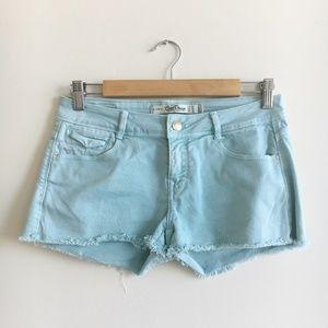 Zara Denim Teal Shorts